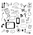 Set with web doodles vector image vector image