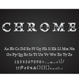 shiny chrome letters vector image