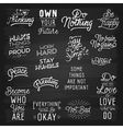 slogans chalkboard abstract ok vector image vector image