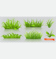 spring green grass 3d realistic icon set vector image vector image