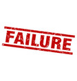 square grunge red failure stamp vector image vector image