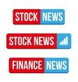 Stock News button vector image vector image