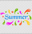 summer splash spray icon in flat style summertime vector image