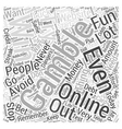 The Dangers of Online Gambling and How to Avoid It vector image vector image