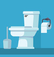 toilet bowl and toilet paper vector image