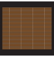 Traditional makisu woven mat for sushi rolls vector image vector image