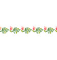 tropical flower tropic header or border vector image vector image