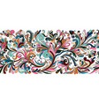 vintage floral baroque seamless border vector image vector image