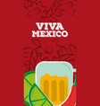 viva mexico vertical banner vector image vector image