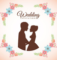 wedding invitation vector image vector image