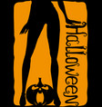 womens legs and halloween pumpkin vector image vector image