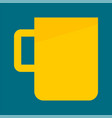 yellow tea cup icon flat style vector image