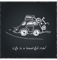 Life is a beautiful ride Hand drawn typography vector image