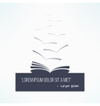 Quote box with a book Quoting artistic design vector image
