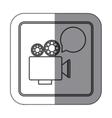 sticker silhouette square shape with retro movie vector image