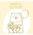 bear greetings vector image