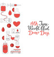 14 june blood donor day poster vector image vector image