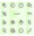 14 planet icons vector image vector image