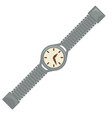 40s style watch or wrist clock dial and belt vector image