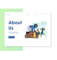 about us website landing page design vector image vector image