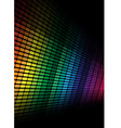 abstract background multicolor equalizer vector image vector image