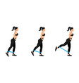 athletic woman doing exercise with resistance band vector image vector image