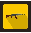 Automatic machine gun icon flat style vector image vector image