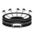 baseball arena icon simple style vector image vector image