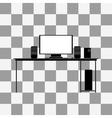 Black icon of desk vector image vector image