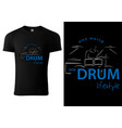black t-shirt with abstract drummer and drums vector image vector image