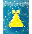 Bright blue Christmas greeting card vector image vector image