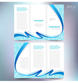 brochure design template folder leaflet ribbon vector image vector image