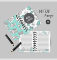 calendar daily and weekly planner template note vector image