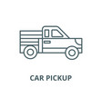 car pickup line icon car pickup outline vector image vector image