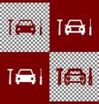 car tire repair service sign bordo and vector image vector image