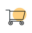 cart market commerce shopping line style dot color vector image