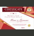certificate retro design template 6 vector image vector image