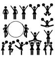 cheerleader supporter team school college vector image