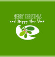 christmas card with holiday greetings and dove vector image vector image