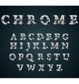 chrome 3D alphabet vector image