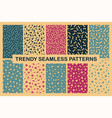 collection of colorful seamless memphis patterns vector image vector image