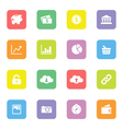 Colorful simple flat icon set 4 on rounded rectang vector image vector image