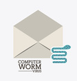 Computer worm design vector image vector image