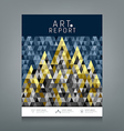 Cover report triangles geometric concept vector image vector image