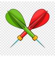 darts icon cartoon style vector image vector image