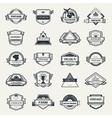 design logo elements template vector image vector image