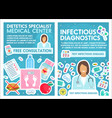 dietetics and infectious disease clinic vector image vector image