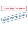 dog eats dog textile stamps vector image vector image