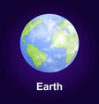 earth planet icon isometric style vector image