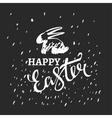 Easter Bunny Lettering vector image vector image